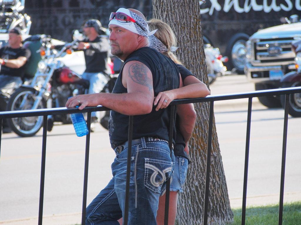 biker forearm tattoo