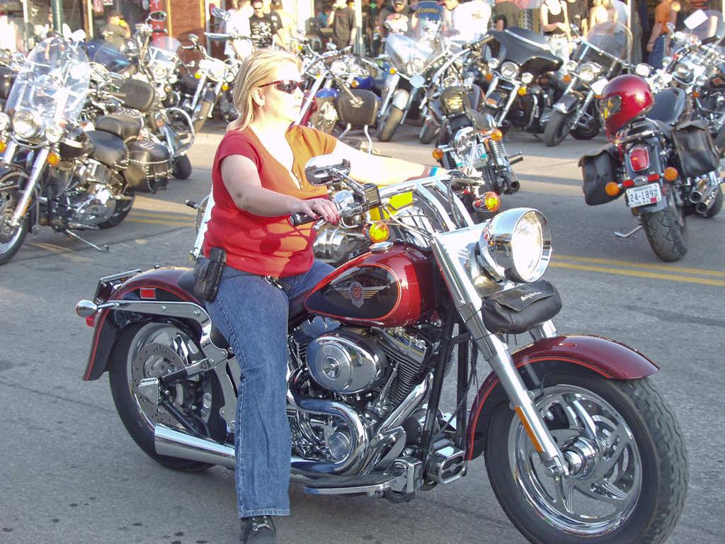 Blonde Biker