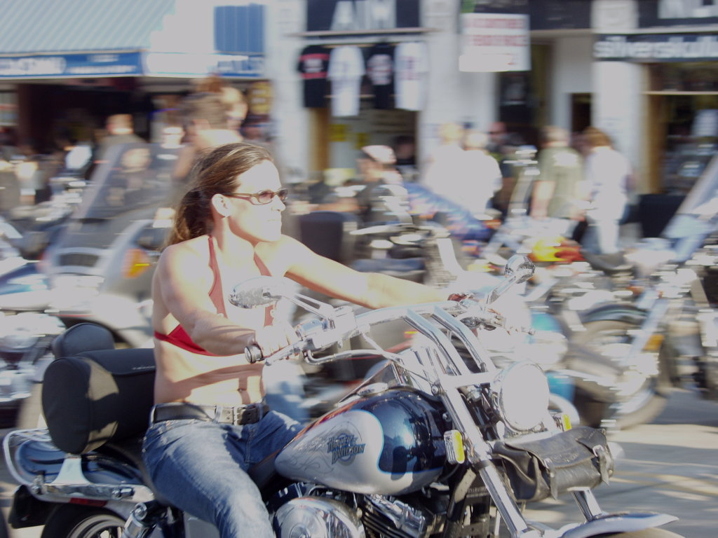 Overexposed motorcycle