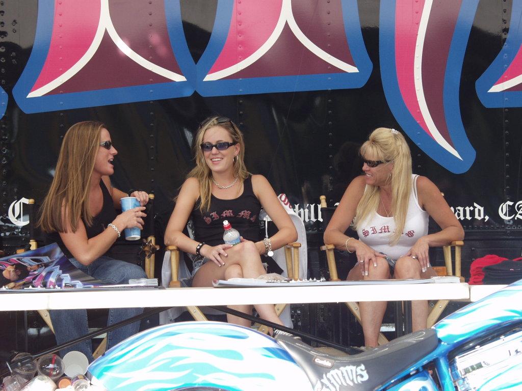 three biker babes