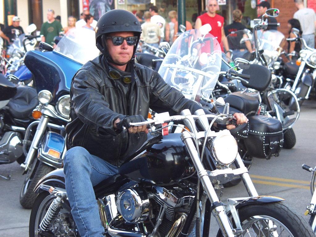 leather jacket rider