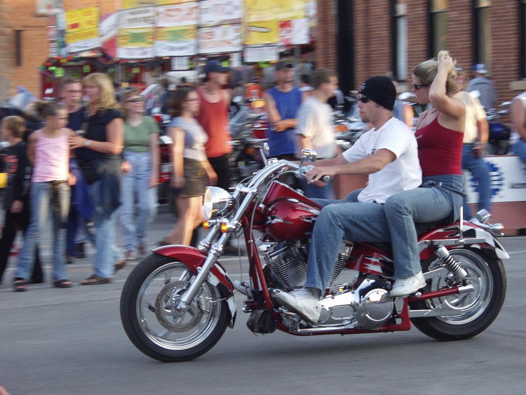 biker in stocking cap