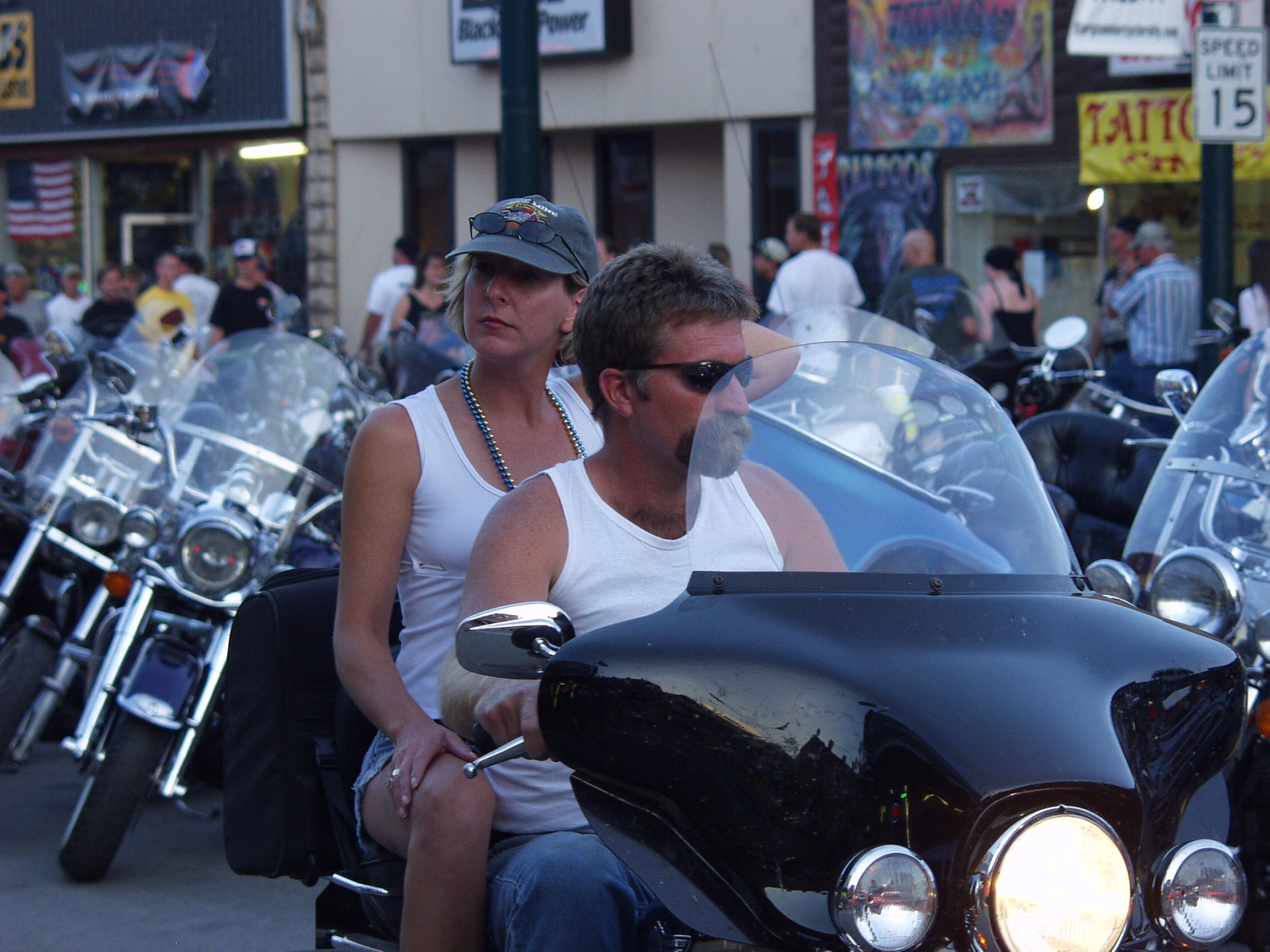 bikers in white t'