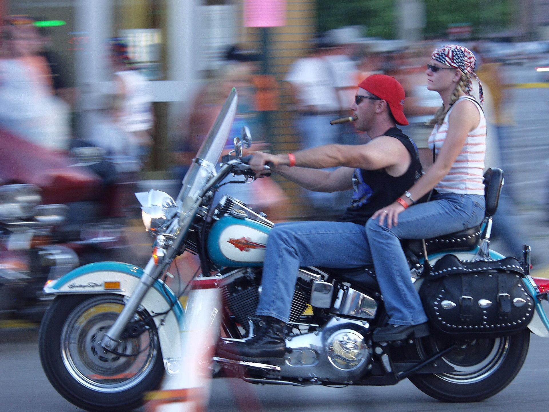 Riding Harley