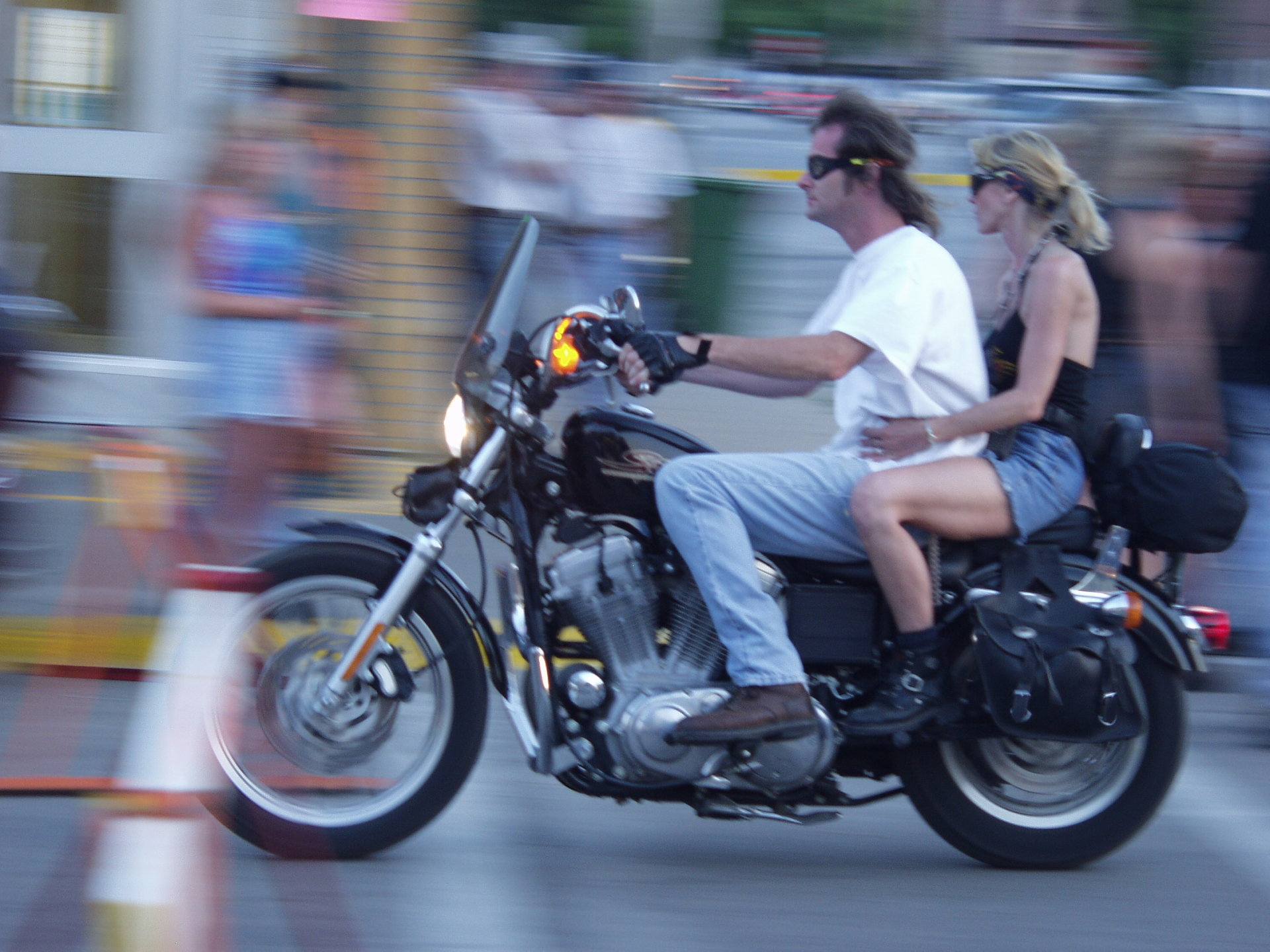 speeding motorcylists