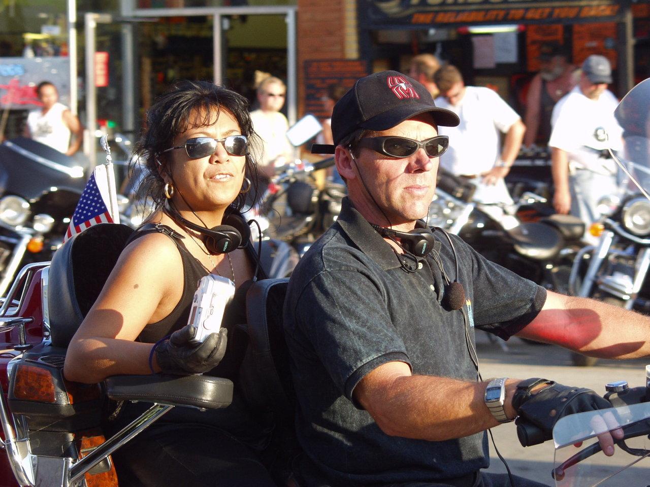 Attractive bikers