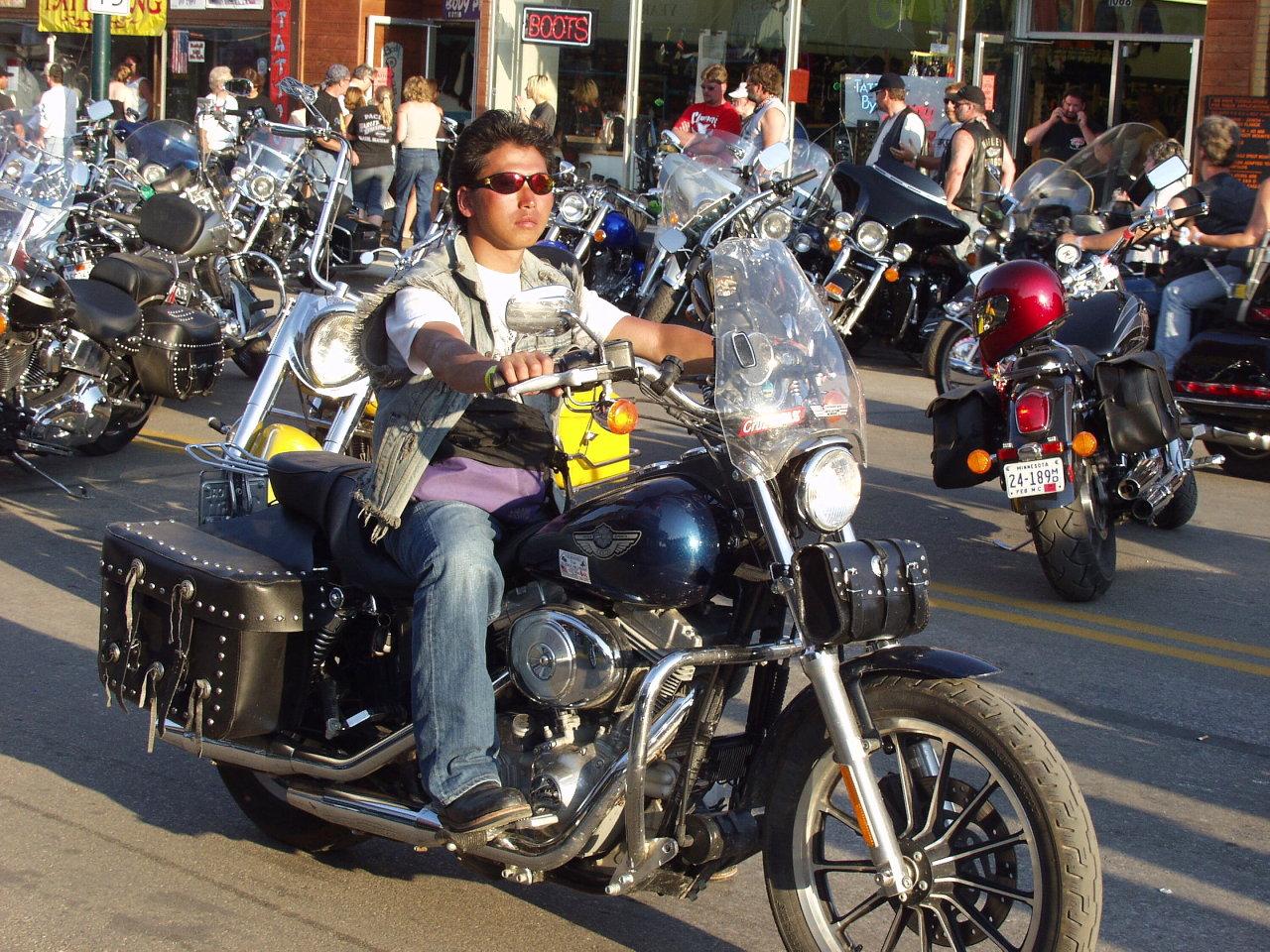 Biker Traveling