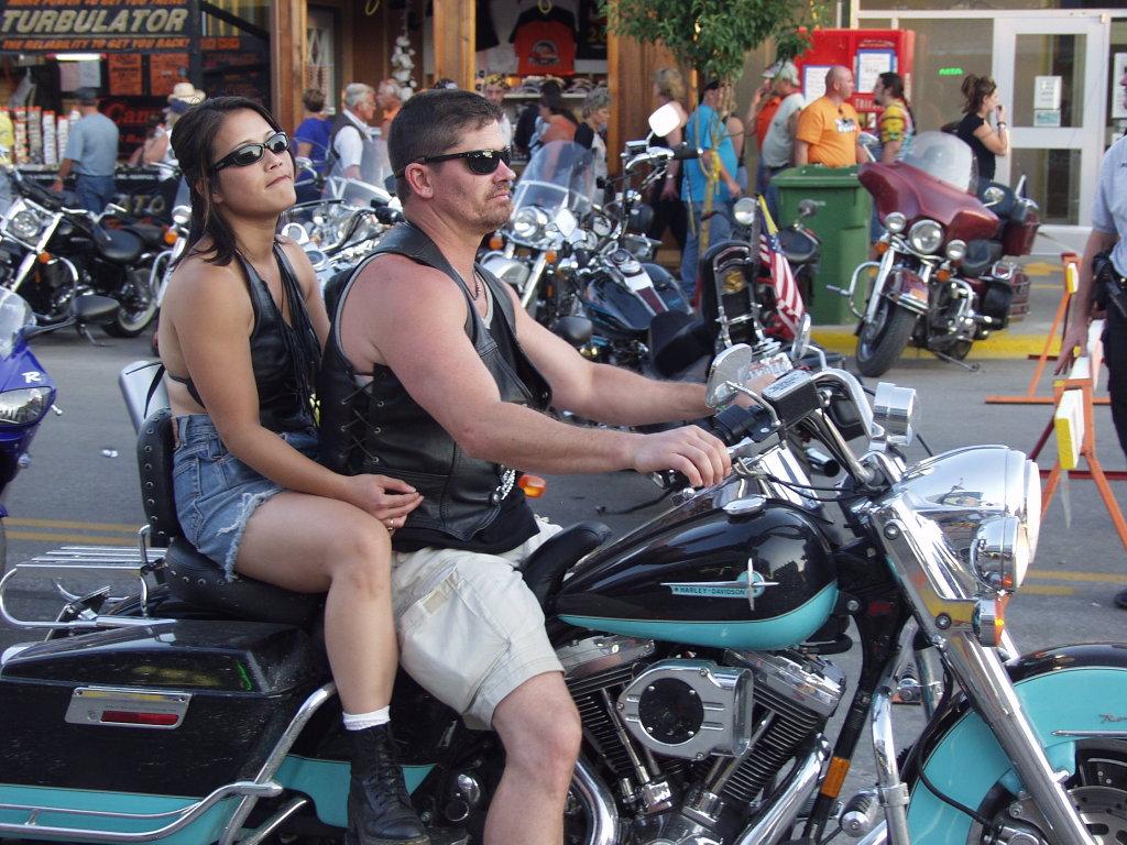 aqua Harley riders