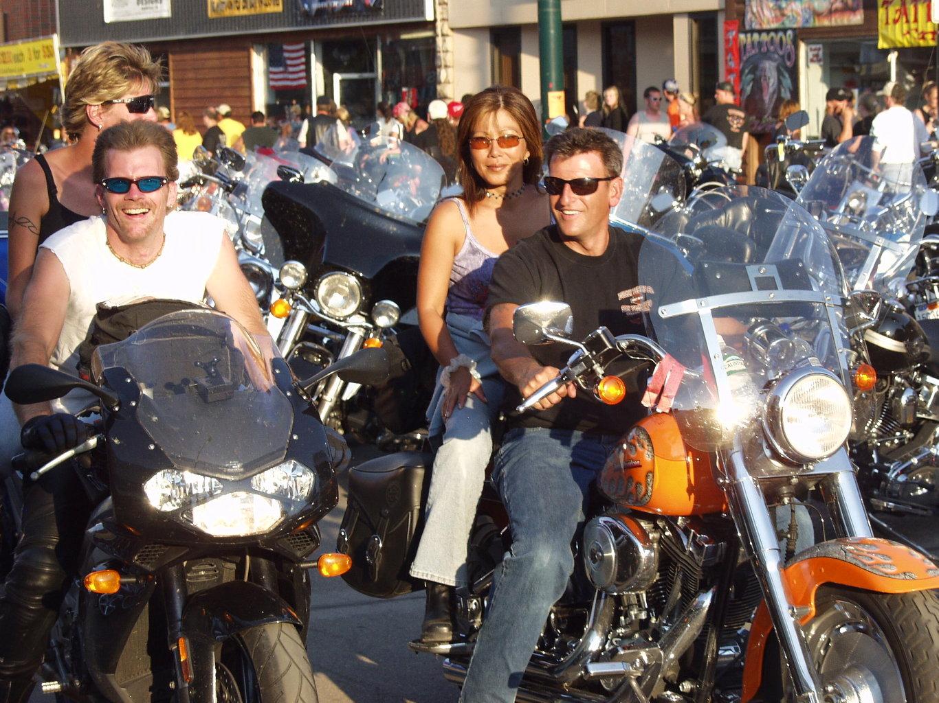 Biker Couples Ride