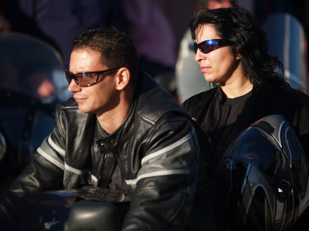 couple in black leather