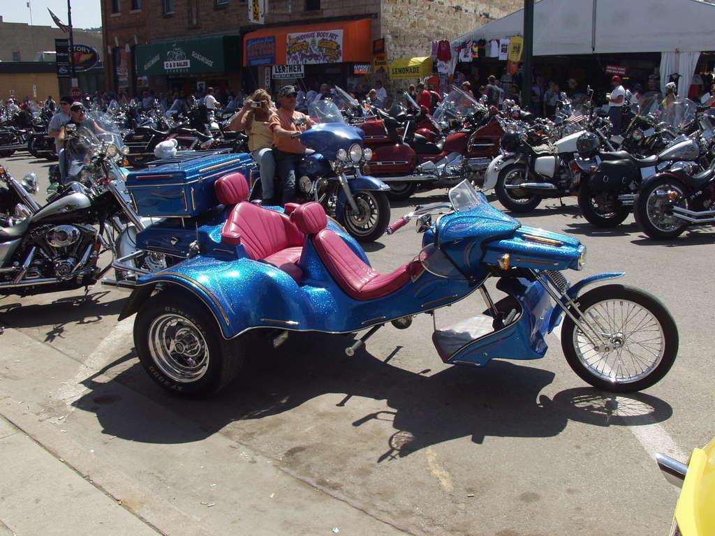 blue custom trike