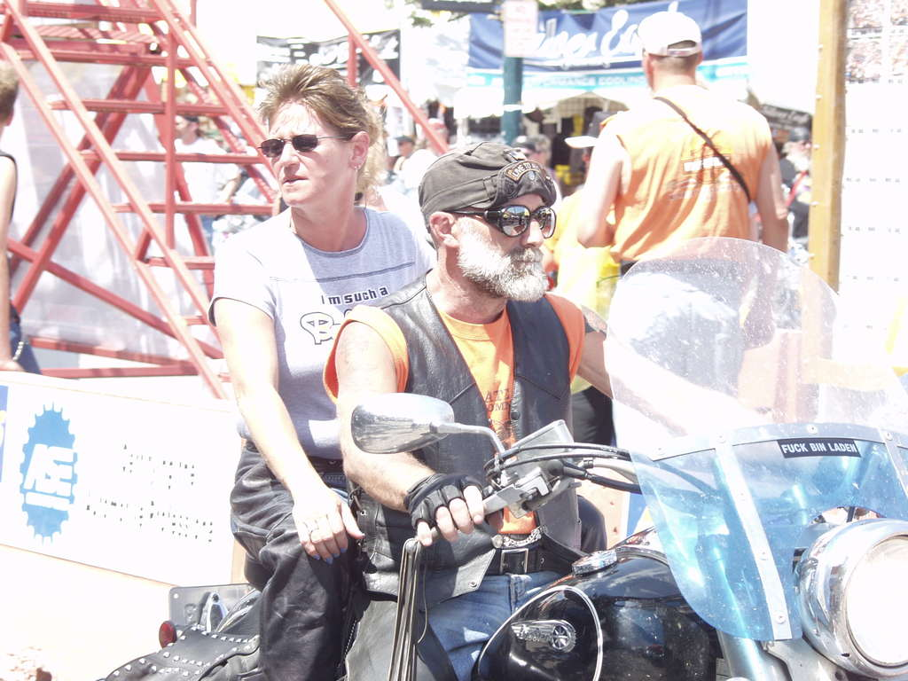 bikers in sun