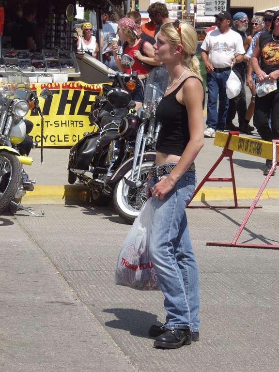 skinny biker babe
