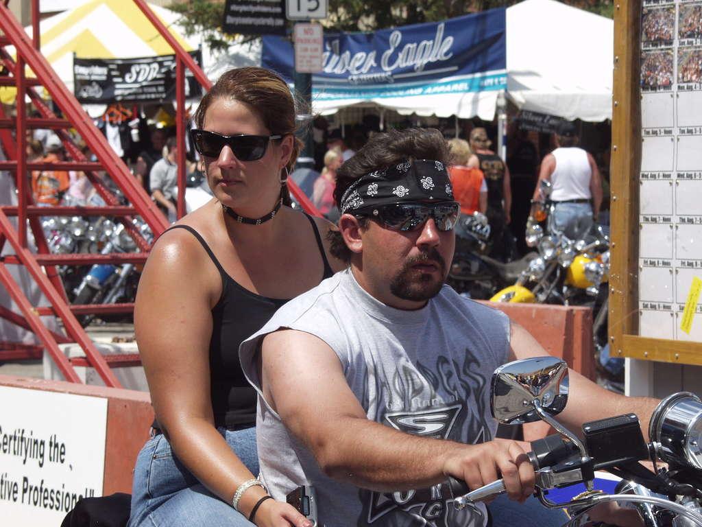 Sturgis biker couple