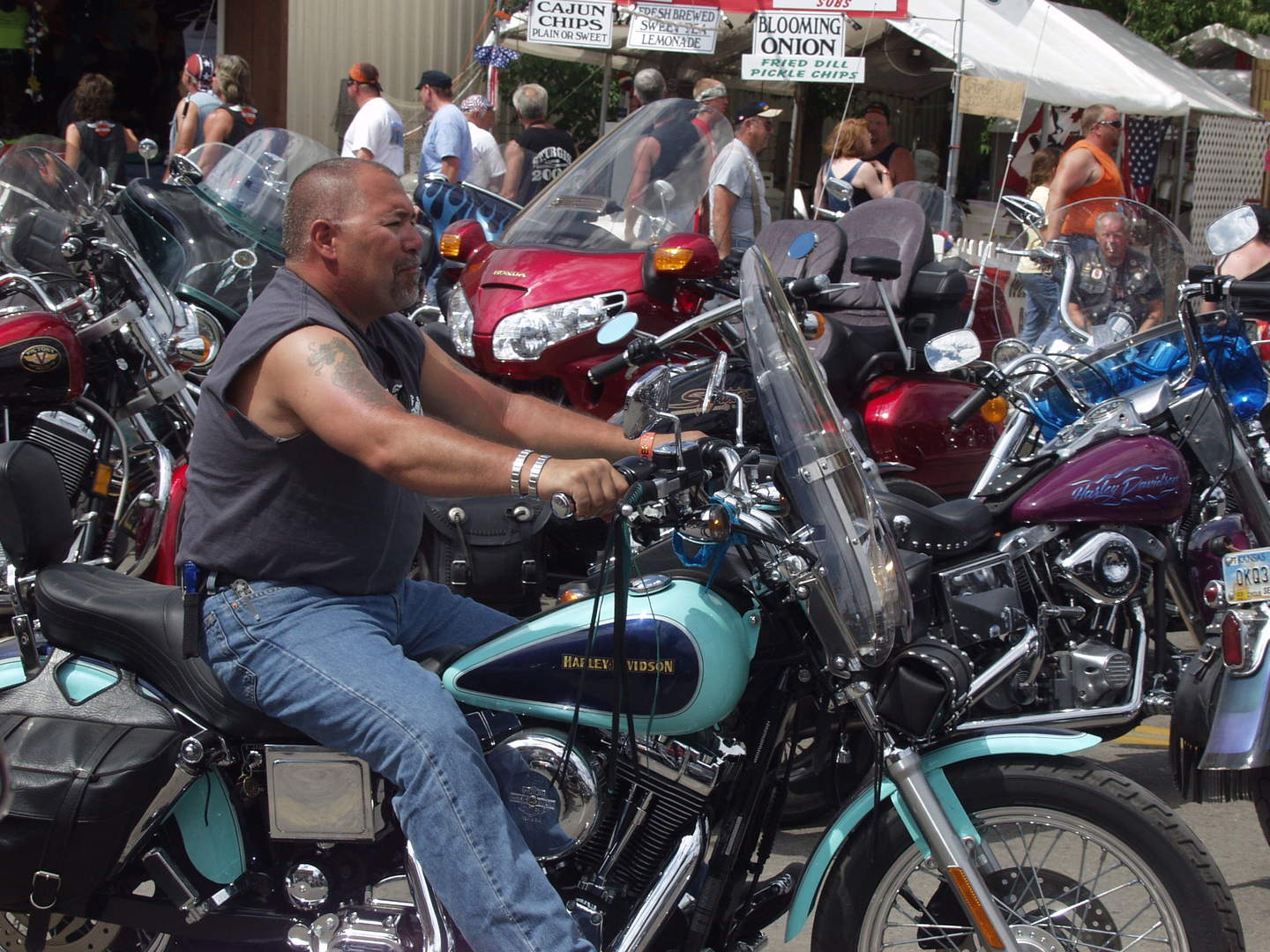 man on harley