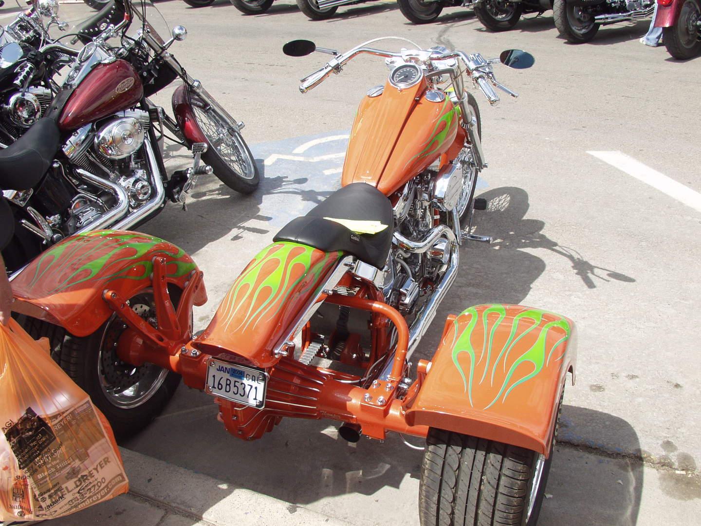 Orange tri bike