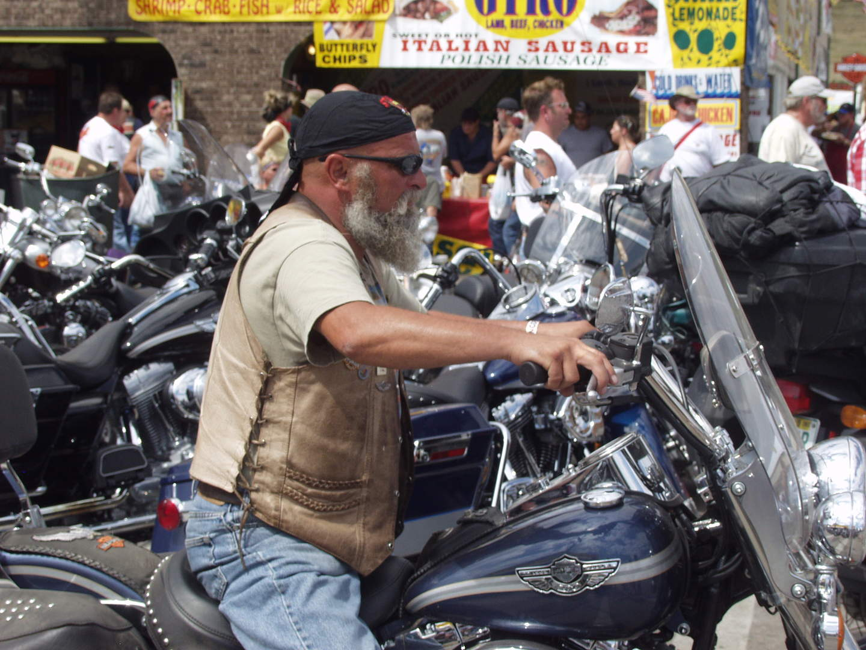 grizzled biker