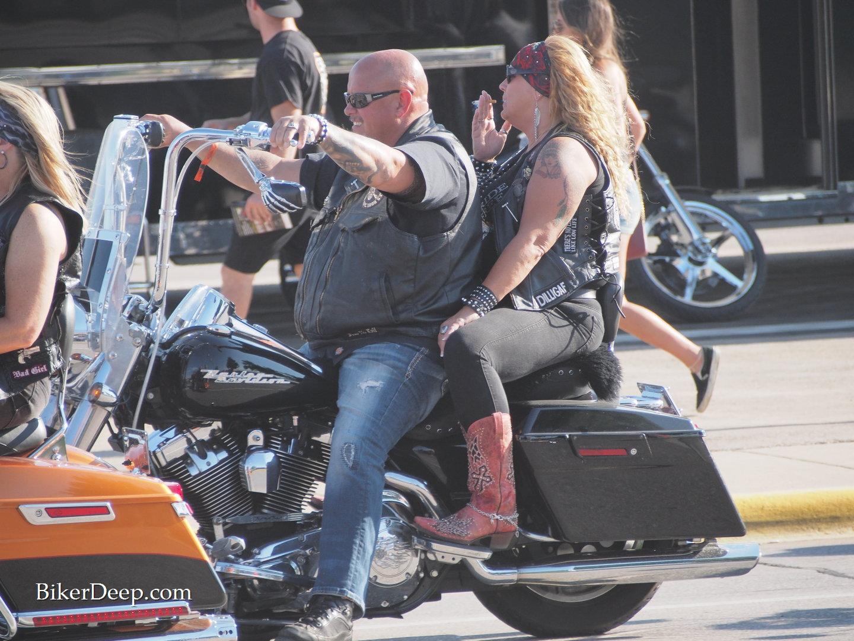 Cowboy Boot motorcyclist