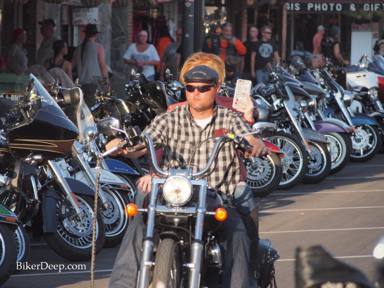 City motorcyclist