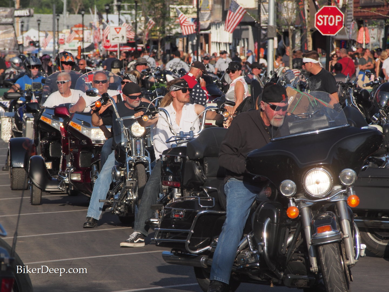 Motorcycles jam