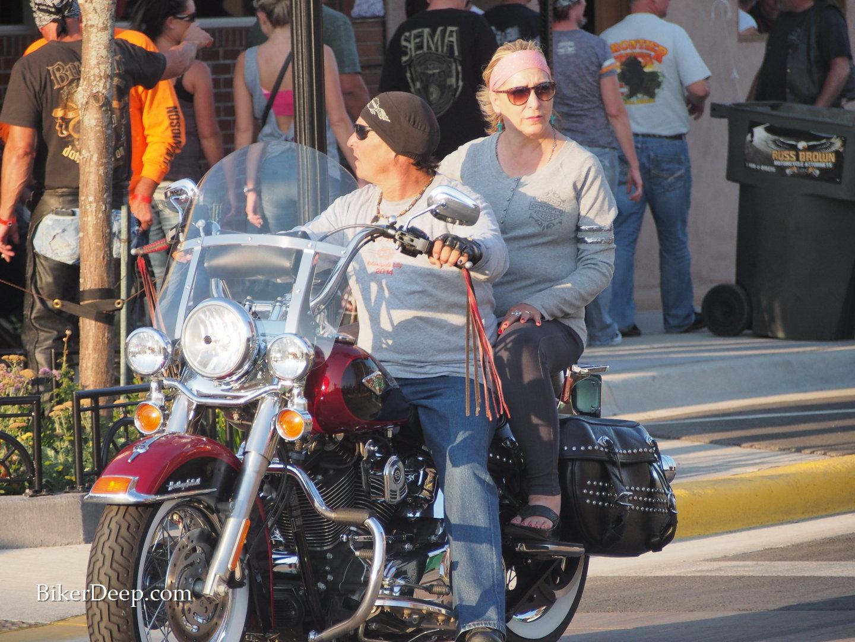 maroon Harley Davidson