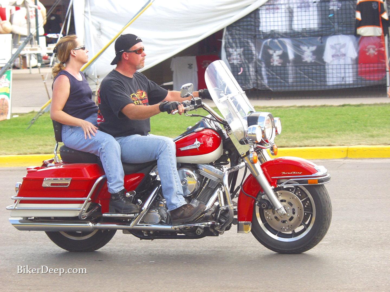 Cherry Red Harley Davidson